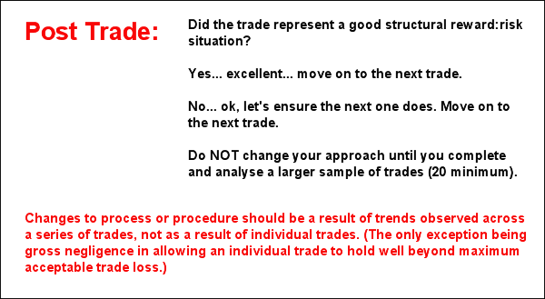 individual trade results are irrelevant