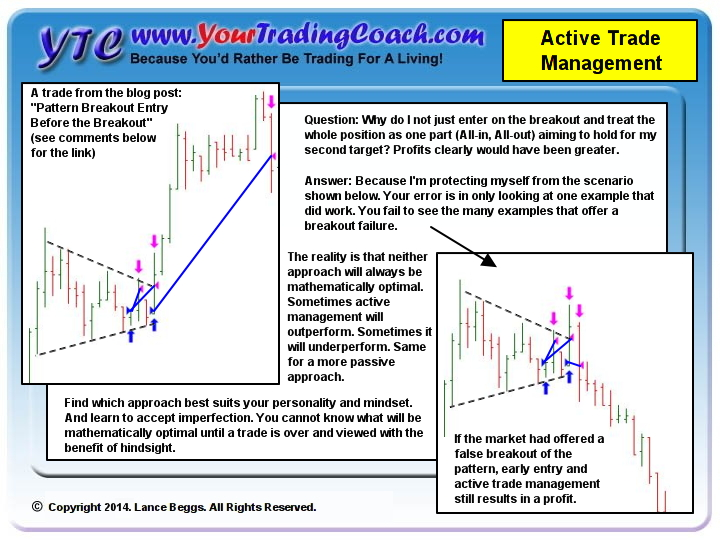 active trade management vs passive trade management