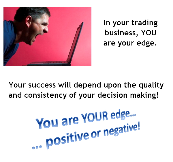 You are YOUR edge... positive or negative!