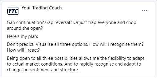 <image: Large gap opening - what's the plan?>