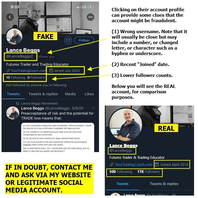 <image: A warning regarding social media and messenger scams>